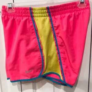 Nike pink and yellow running shorts - Size XS